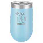 Wine Tumbler - 16oz - Light Blue Stainless Steel Tumblers