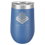 Wine Tumbler - 16oz -Blue Stainless Steel Tumblers