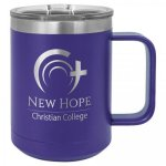 Coffee Mug Tumbler - 15oz - Purple Stainless Steel Tumblers