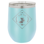 Wine Glass -12oz - Light Blue Stainless Steel Tumblers