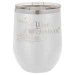 Wine Glass -12oz - White  Stainless Steel Tumblers