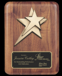 Rounded Edge Solid Walnut w/ star casting Star Awards