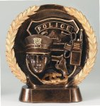 Resin Plate -Police Wreath Sculptured Awards