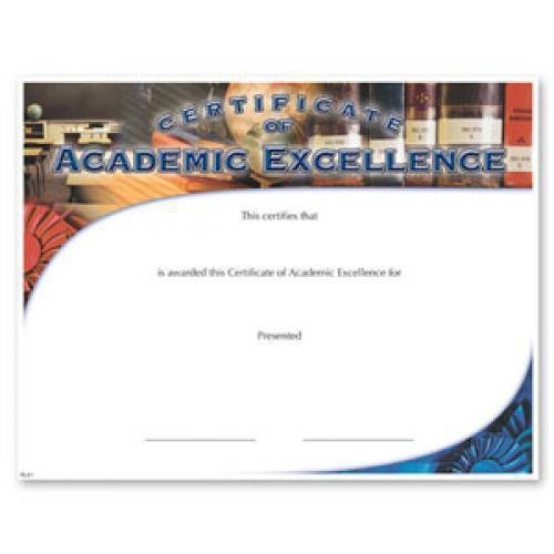 academic excellence fill in the blank certificates special order
