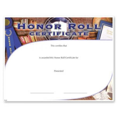 honor roll fill in the blank certificates special order